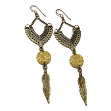 Load image into Gallery viewer, Antique Gold Gypsy Earrings