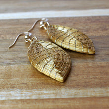 Load image into Gallery viewer, Marquise Golden Grass Earrings