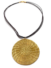 Load image into Gallery viewer, Boho Pendant Necklace, Woven Pendant, Golden Grass