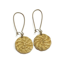 Load image into Gallery viewer, Boho Arched Earrings, Golden Grass Hoop