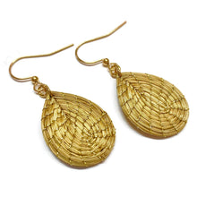 Load image into Gallery viewer, Golden Grass Drop earrings