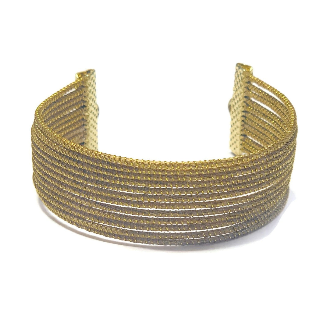 Golden Grass Cuff Bracelet