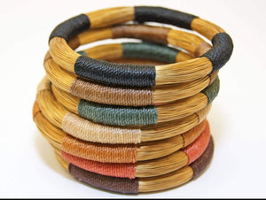 Colorful Golden Grass bangles, Lightweight