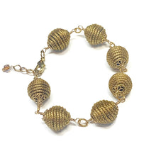 Load image into Gallery viewer, Golden Grass Beaded Bracelet
