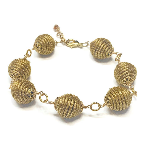 Golden Grass Link Bracelet