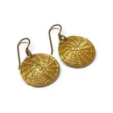 Load image into Gallery viewer, Golden Grass Hoop Earrings - Many Sizes