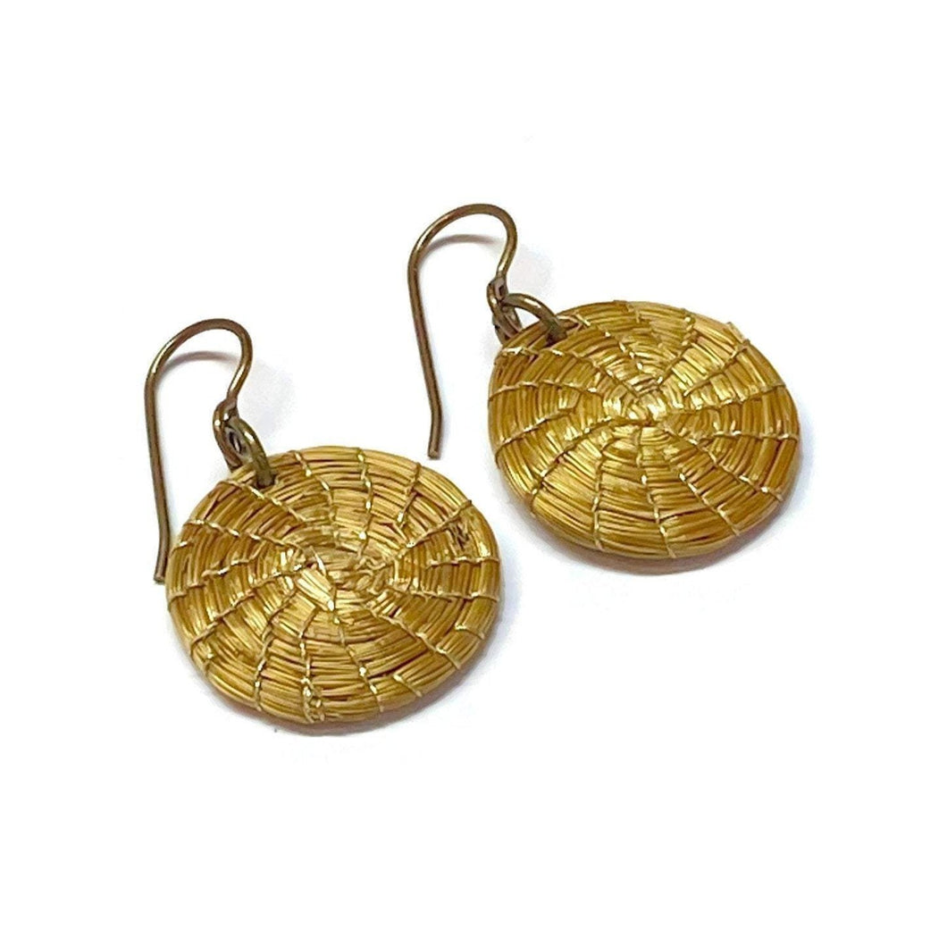 Golden Grass Hoop Earrings - Many Sizes