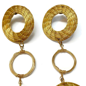 Long Triple Hoop Earrings