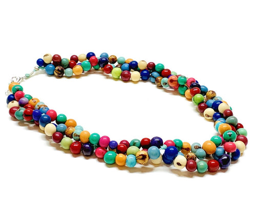 Colorful Necklace Multi Strand Spring