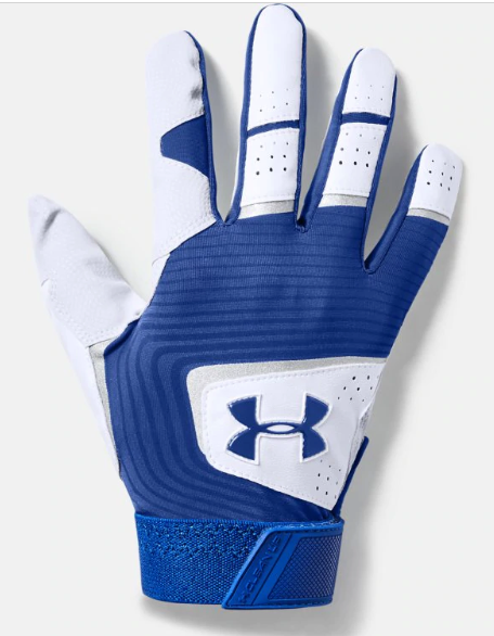 UA Adult Clean Up 19 Batting Glove Royal 1341970