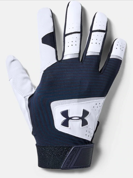 UA Adult Clean Up 19 Batting Glove Navy 1341970