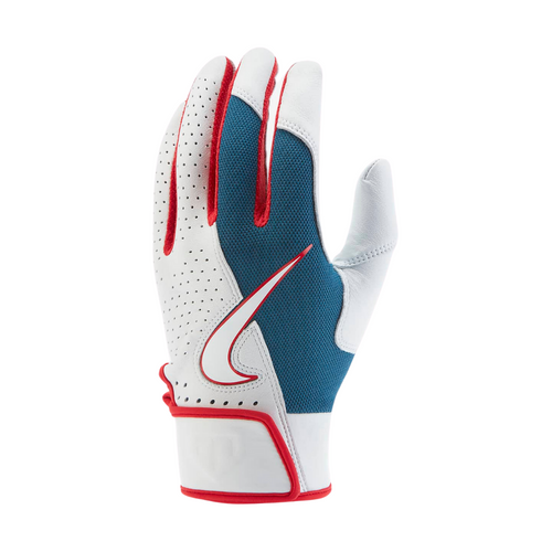 Nike Trout Elite Batting Gloves 2.0 White - Royal - Red - Baseball 360