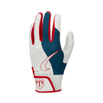 Nike Trout Edge Batting Gloves 2.0 White - Royal - Red