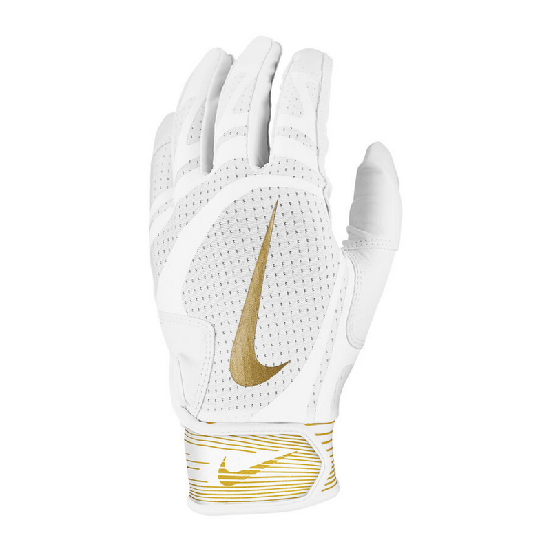 Nike Alpha Huarache Edge Batting Glove White/Gold
