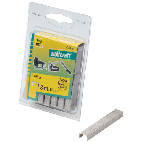 wolfcraft Broad Back Staples Type 053 1400 pcs 8 mm 7030000