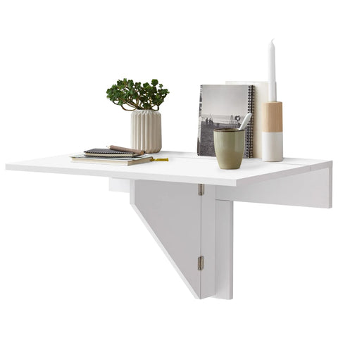 FMD Wall-mounted Drop Leaf Table White