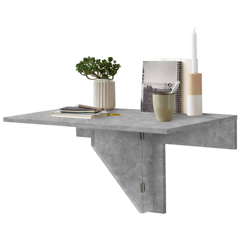 FMD Wall-mounted Drop Leaf Table Concrete