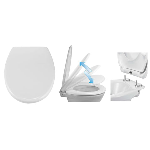 HI Toilet Seat with Quick Release and Soft-close