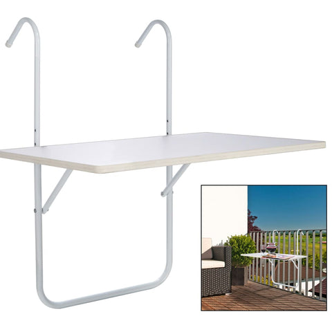 HI Balcony Folding Table White 60x40x1.2cm