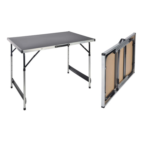 HI Folding Table 100x60x94 cm Aluminium