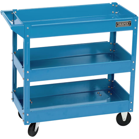 Draper Tools Tool Trolley 3 Tier Blue