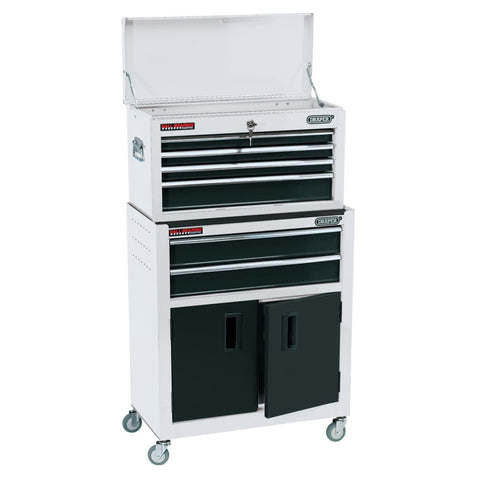 Draper Tools Combo Roller Cabinet and Tool Chest 61.6x33x99.8 cm White