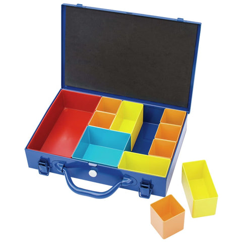 Draper Tools Compartment Organiser 11 Piece 32.9x22.5x6.5 cm Blue