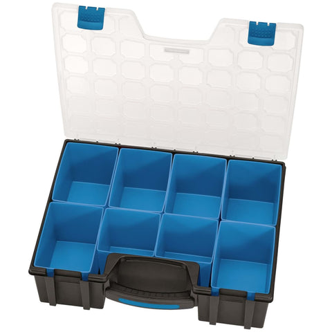 Draper Tools Compartment Organiser 8 Piece 41.5x33x11 cm Black