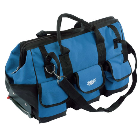 Draper Tools Rolling Tool Bag 60x30x35 cm Blue and Black 58 L