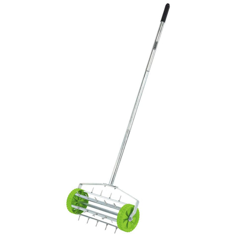 Draper Tools Rolling Lawn Aerator Spiked Drum 450 mm Green