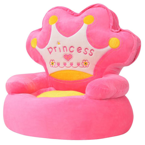 Plush Children's Chair Princess Pink