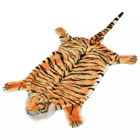 Tiger Carpet Plush 144 cm Brown