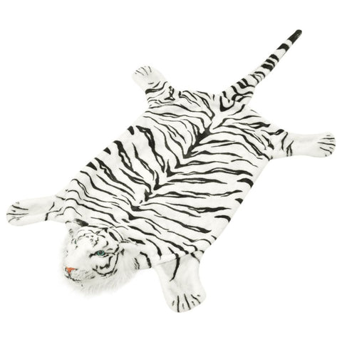 Tiger Carpet Plush 144 cm White