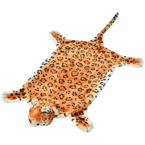 Leopard Carpet Plush 139 cm Brown
