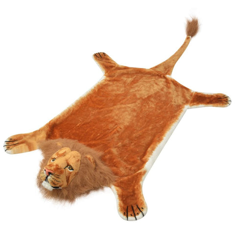 Lion Carpet Plush 205 cm Brown