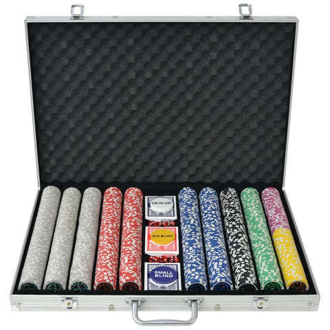 Poker Set with 1000 Laser Chips Aluminium