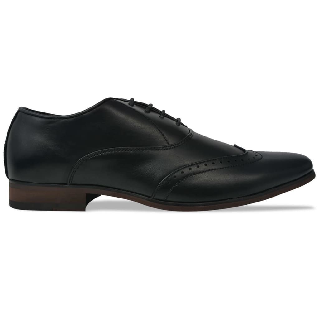 Men's Lace-Up Brogues Black Size 6.5 PU Leather