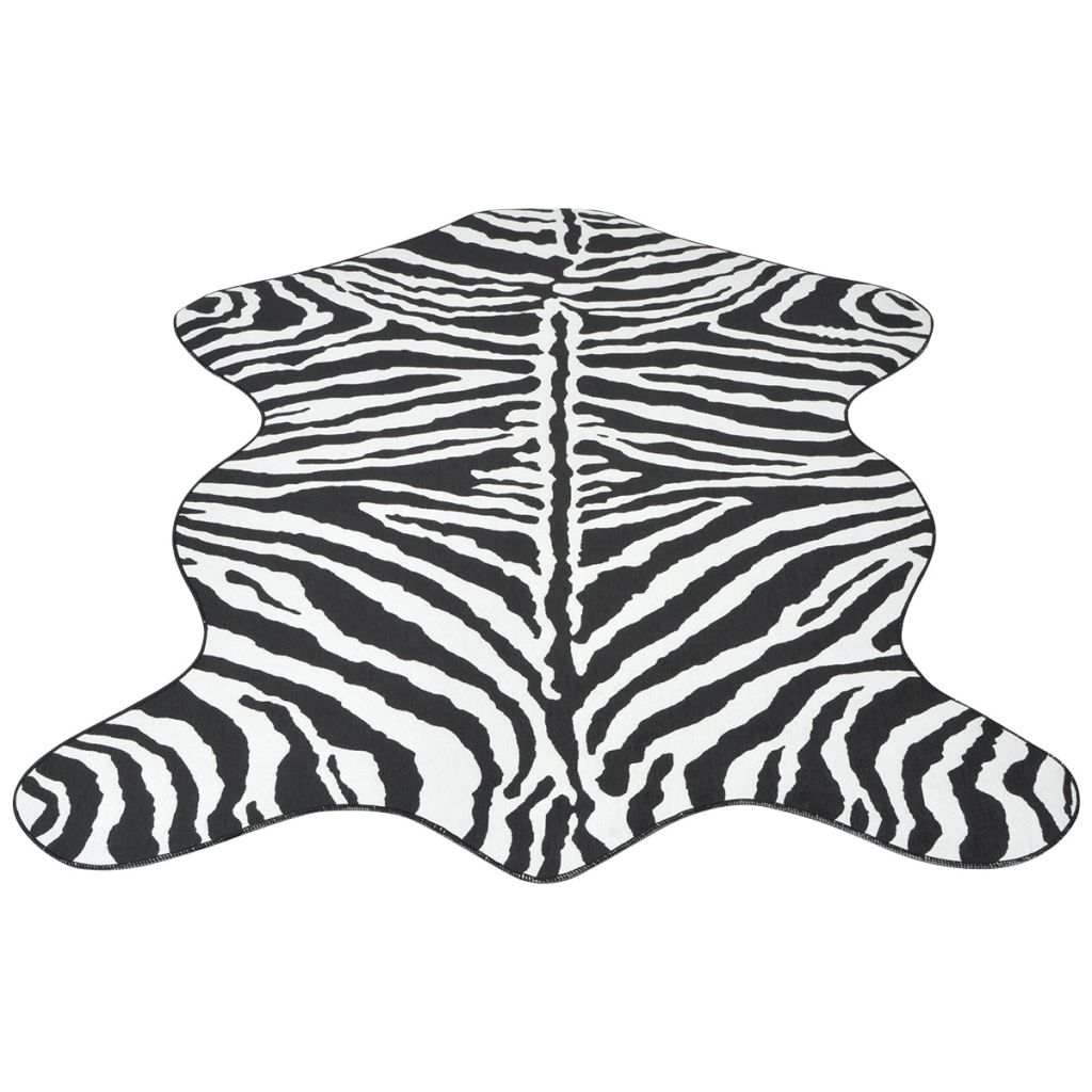 Shaped Rug 70x110 cm Zebra Print
