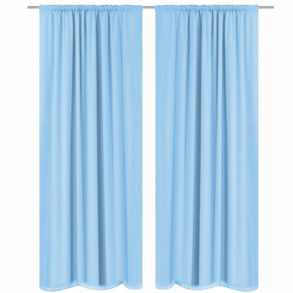 Blackout Curtains 2 pcs Double Layer 140x245 cm Turquoise