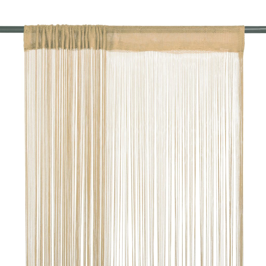 String Curtains 2 pcs 140x250 cm Beige