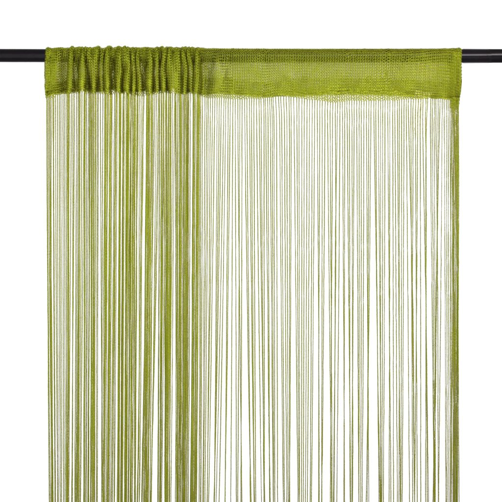 String Curtains 2 pcs 140x250 cm Green