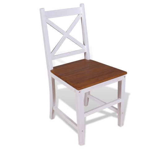 Dining Chairs 2 pcs Solid Teak Mahogany