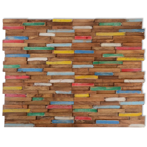 10 pcs Wall Cladding Panels 1 m² Teak