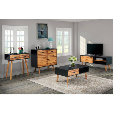 Four Piece Living Room Furniture Set Solid Acacia Wood