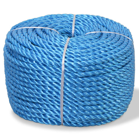 Twisted Rope Polypropylene 10 mm 100 m Blue