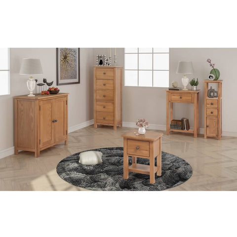 Five Piece Living Room Furniture Set Solid Oak