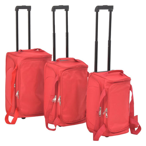 3 Piece Luggage Set Red
