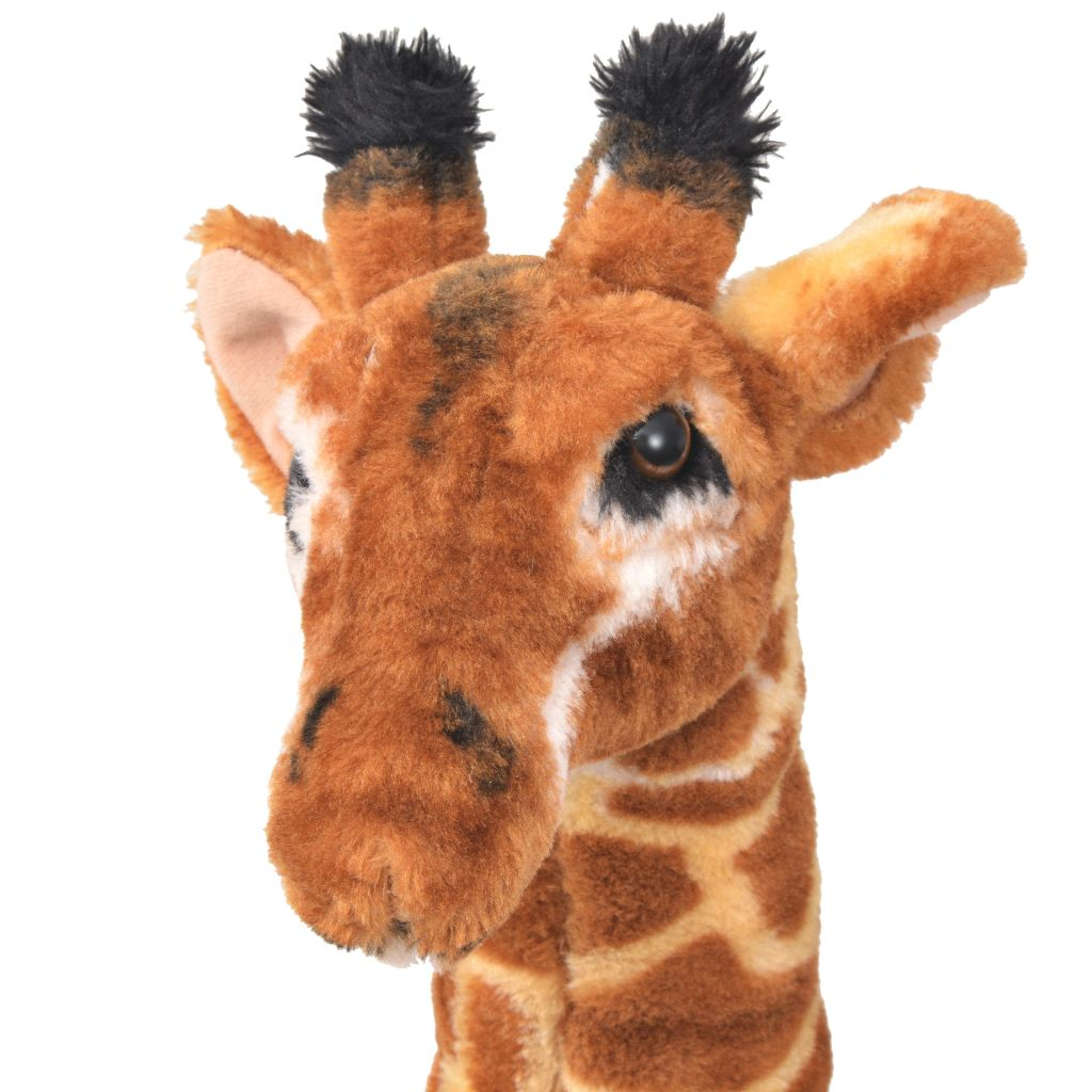 Standing Plush Toy Giraffe Brown and Yellow XXL