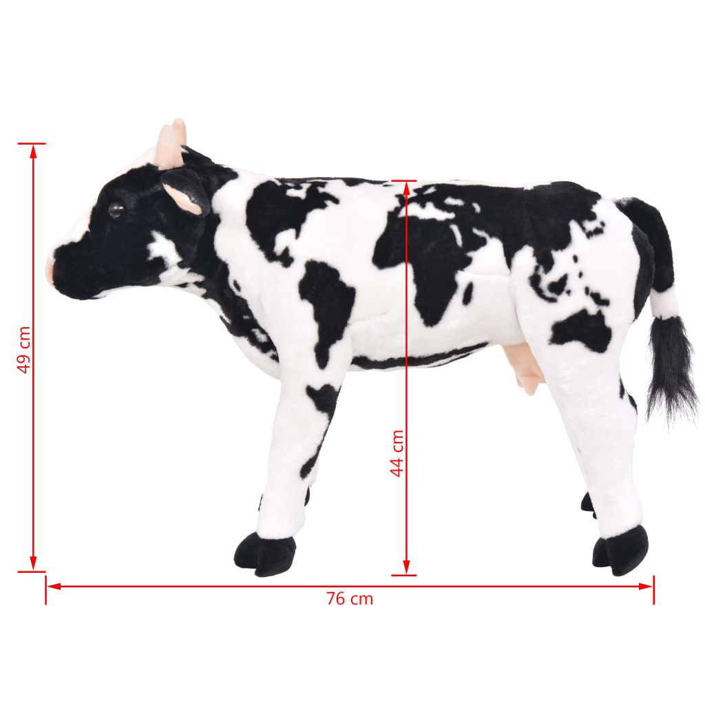 Standing Plush Toy Cow Black and White XXL
