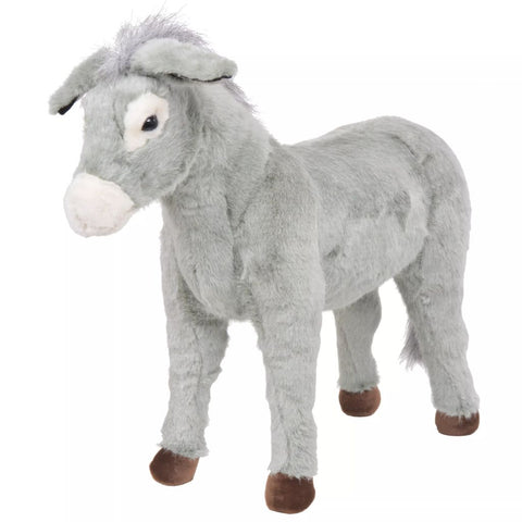 Standing Plush Toy Donkey Grey XXL